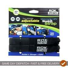 ROK Straps HD Adjustable Motor Bike Luggage Straps - Black - 25mm x 1500mm