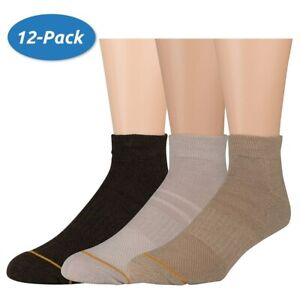 Gold Toe Mens Cusion Tech Low Cut Socks (12 Pack)