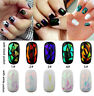 2Pcs Nail Art Transfer Foil Sticker Decal Shiny Laser Holographic Paper Manicure