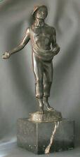 Große Bronzefigur: Sämann, signiert Franz Iffland, 30er Jahre