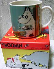 HTF Moomin Valley New Mug Cup Japan Limited Bottle Ship Floren Yamaka + Gift Box