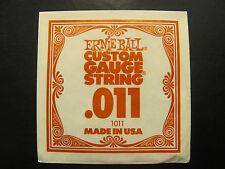 Ernie BallCustom Guage String .011 Made In USA 1011 Single String.