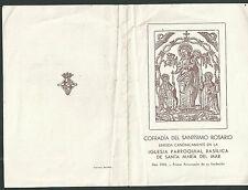 Librito antiguo Virgen del Rosario andachtsbild santino holy card santini