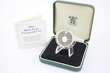 1994 silver proof £2 coin Bank of England 400 years