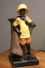 "Figur ""Mohr mit Korb"", Dekofigur aus Polyresin, Höhe 28 cm"