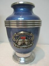 229 Trucker Adult Metal Cremation Urn- with 2 Options of Free text
