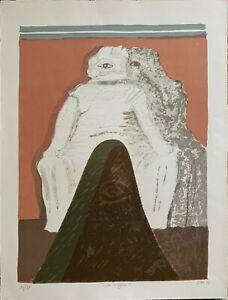 Carmelo Zotti litografia La Coppia 1975 70x50 firmata numerata datata