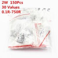 150Pcs 30 Values 0.1R -750 R 2W Carbon Film Resistor Assortment Kit Assorted