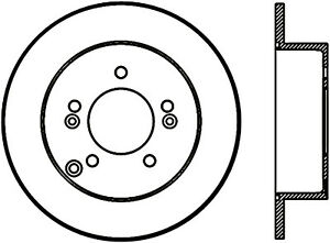 Disc Brake Rotor-Rear Disc Front Left Stoptech 128.50024L