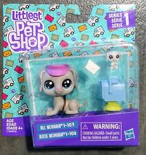 🐾 Puppy Dogs Littlest Pet Shop Daddy & Teensie Pup WEIMARAN #107-108 LPS🐾