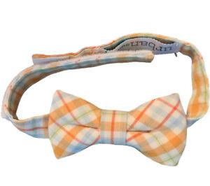 Urban Sunday Infant Boy Sz 0-12 M Adjustable Cotton Hipster Plaid Bow Tie Easter