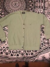 Vintage 60s Light Green Cardigan Turtle Sportswear Acrylic Golf Sweater Large