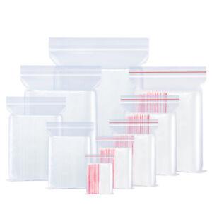Clear Reclosable Zip Top Poly Plastic Storage Bags Jewelry Zipper Lock Baggies