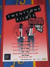 TWENTY ONE PILOTS - 21 PILOTS -  2017  Australian Tour - Laminated Promo Poster
