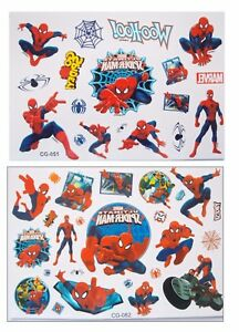 Spiderman Web Spider Super Hero Temporary Body Tattoo - Cartoon Children