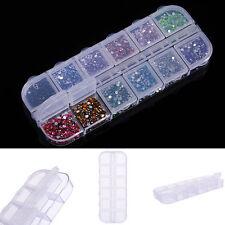 12 Grid Storage Box Nail Art Equipment Jewelry Box  Nail Tool Art Decoration