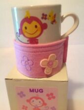 Sanrio Rare Chi Chai Monchan 10oz Ceramic Mug Felt Cozy 2005 NIB Ltd Production