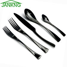 20-Piece 18/10 Black Flatware Set Cutlery Dinner Knife Fork Spoon Dinnerware