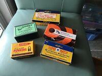 5 Vintage Rifle Pistol Cartridge Ammo Box Ammunition Shell Lot 6A