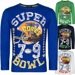 Jungen Langarmshirt Pullover Sweater Pulli Sweat T-Shirt Motiv Print 30123
