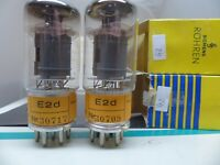 matched pair SIEMENS E2d YELLOW  POST-RÖHRE TUBE NOS/NIB/NEW TESTET DA Ed 6