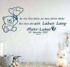 Wandtattoo Babyzimmer Junge name Kinderzimmer jungen Spruch Wunschname pk232