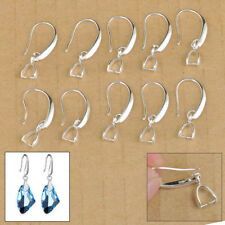 50X Sterling Silver Marking Jewelry Findings Earring Bail Pinch Hook Earwires