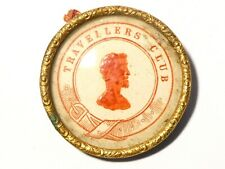 More details for 19thc ulysses pictorial embossed travellers's club london members badge #b146