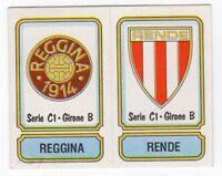 figurina SCUDETTO CALCIATORI PANINI 1981/82 NEW numero 506 REGGINA RENDE