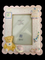 "RUSS BABY ""Expression Of Love"" 3D Picture Frame Pink Girl Theme Holds 3.50"" X5"""