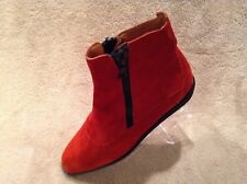 Ellen Tracy Ankle Boots Red Womens Size 6.5 Made In Italy Excellent Condition!