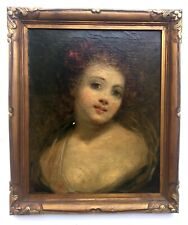 Tableau ancien, Portrait de femme, Encadré, XIXe