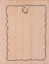 """cutting board my sentiments Wood Mounted Rubber Stamp 2 x 2""""  Free Shipping"""