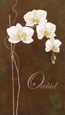 Wand Bild K. Frolova Botanik Blumen Orchidee Malerei Braun 69x39x1,2 cm A0XX