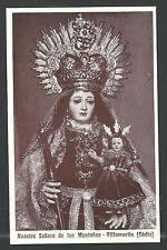 estampa antigua de la Virgen de las Montañas santino holy card image pieuse
