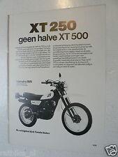 A074- YAMAHA XT250 OFF-ROAD MOTORCYCLE ADVERTISEMENT 1980 MOTORRAD