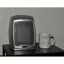 Small Electric Space Heater Home Office Ceramic Portable Adjustable Thermostat