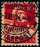 SCHWEIZ 1914, MiNr. 118 I, sauber gestempelt, Mi. 36,-