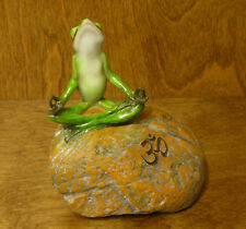 Top Collection Enchanted Story Fairy Garden #4340 FROG MEDITATING w/ OM Symbol