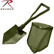 Military Style Tri-Fold Compact Shovel With Cover Entrenching Tool Rothco 849