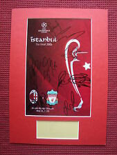 LIVERPOOL ISTANBUL 2005 FINAL PROGRAMME COVER 10 SIGNED A3 MOUNTED DISPLAY-PHOTO