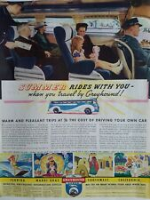 1937 summer rides with you when you travel Greyhound bus Girl Doll vintage ad
