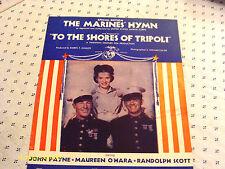 Maureen O'Hara Randolph Scott  The Marine's Hymn 1942 Photo Sheet Music