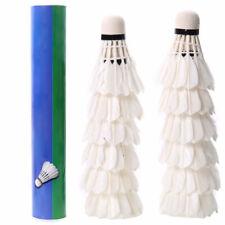 Badminton Balls Goose Feather Shuttlecocks White 12 Pcs for Sport Training USA