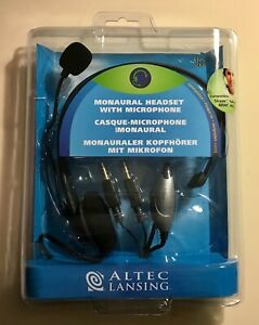 AltecLansing Monaural Headset with Microphone AHS212