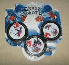 2004/05 NHL Hockey Calgary Flames Collector Puck and Pin Set - Grass Roots
