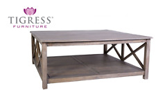 """""""Bordeaux"""" Square Mango Wood Timber 115cm Coffee Table"""