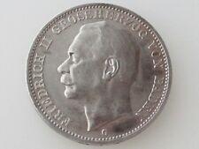 1914-G FRIEDRICH II GROSSHERZOG BADEN/GERMAN STATES 3-MARK .900 SIL. COIN KM#280