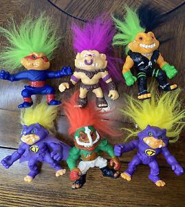 "1992 HASBRO BATTLE TROLLS 5""Action Figure Lot Of 6 Vintage Toys Count Trollulla"