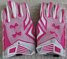 *Notre Dame Football Pink Team Issued Game Worn Under Armour Gloves - Size Xxl